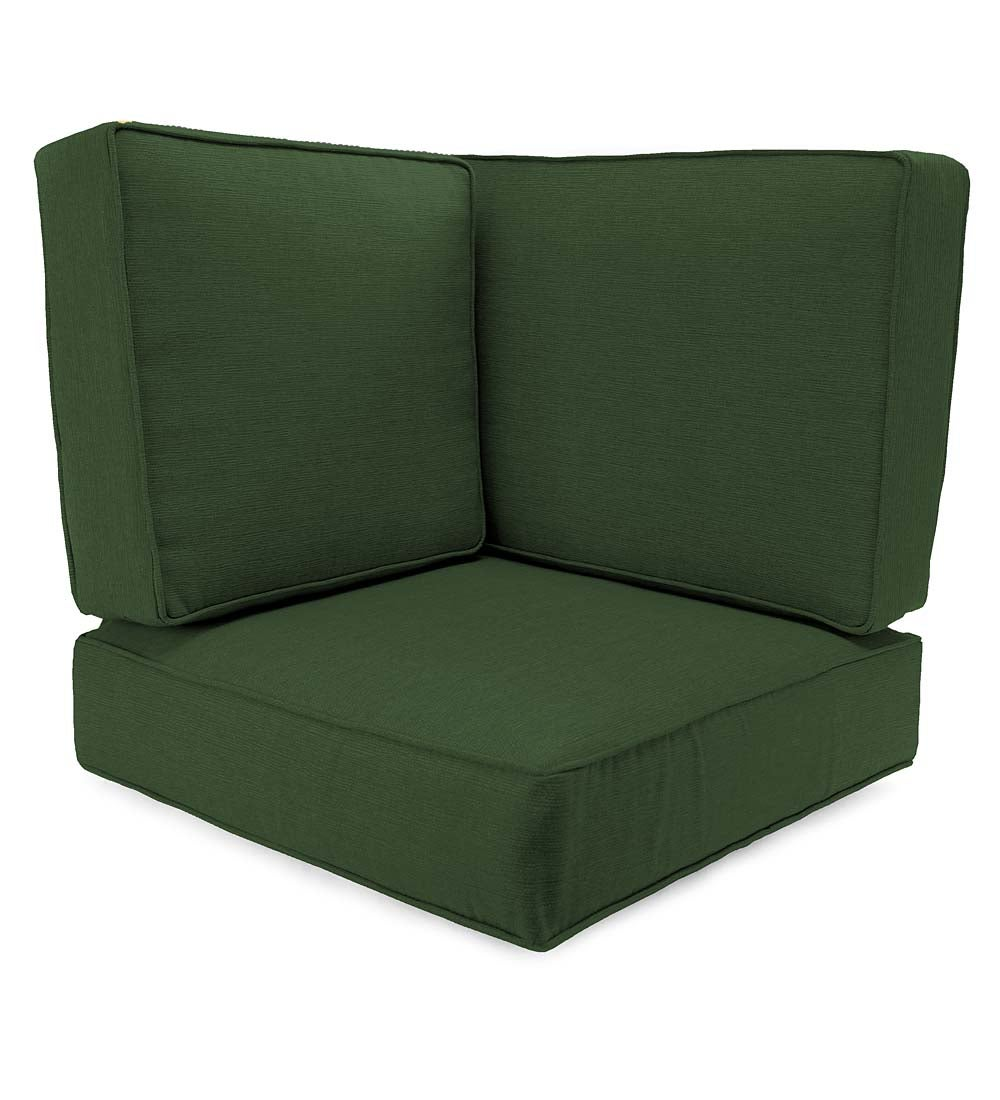 Box-Edge Polyester Replacement Corner Cushions, Claremont Seating
