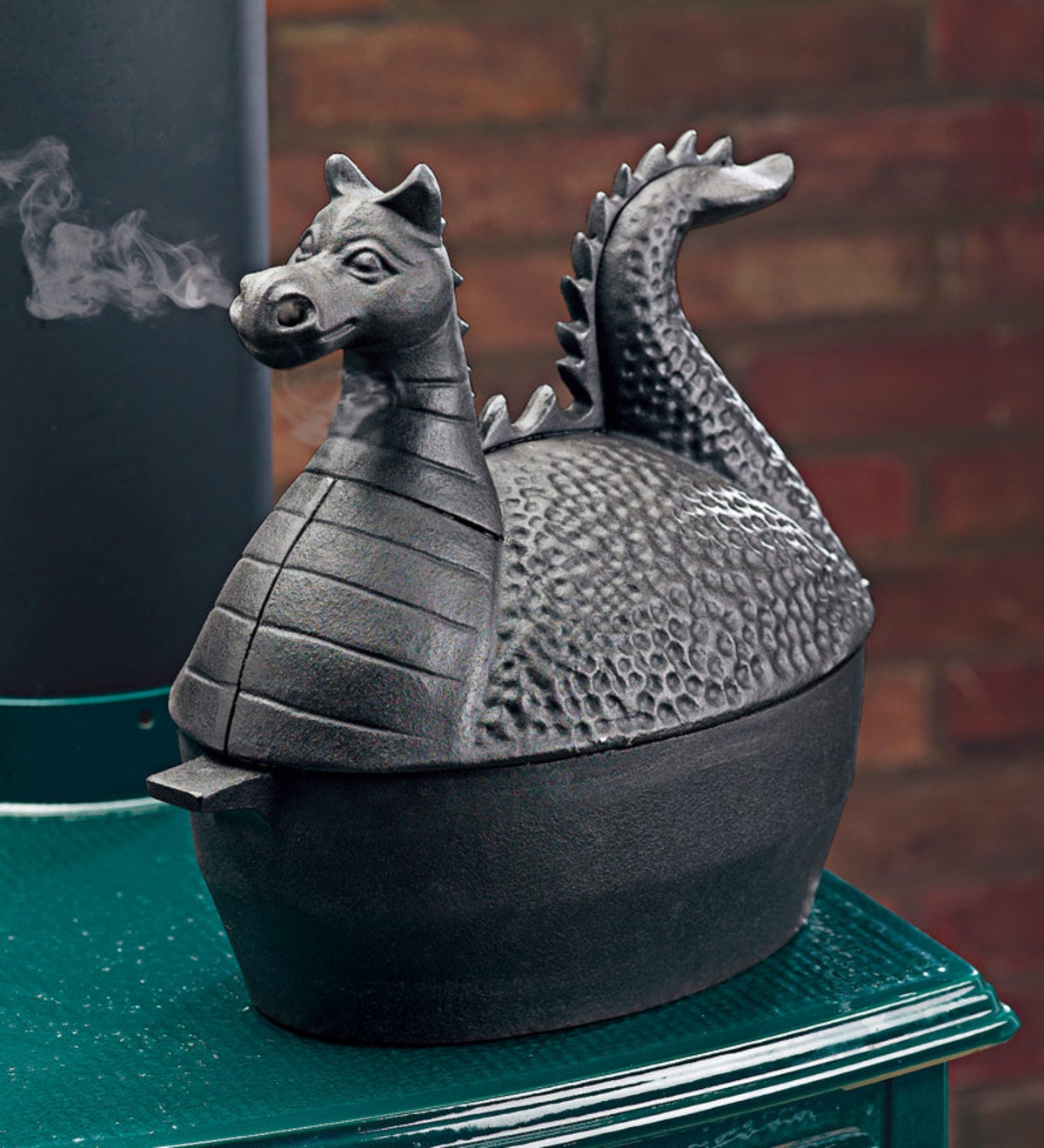 Dragon Woodstove Steamer in Cast Iron