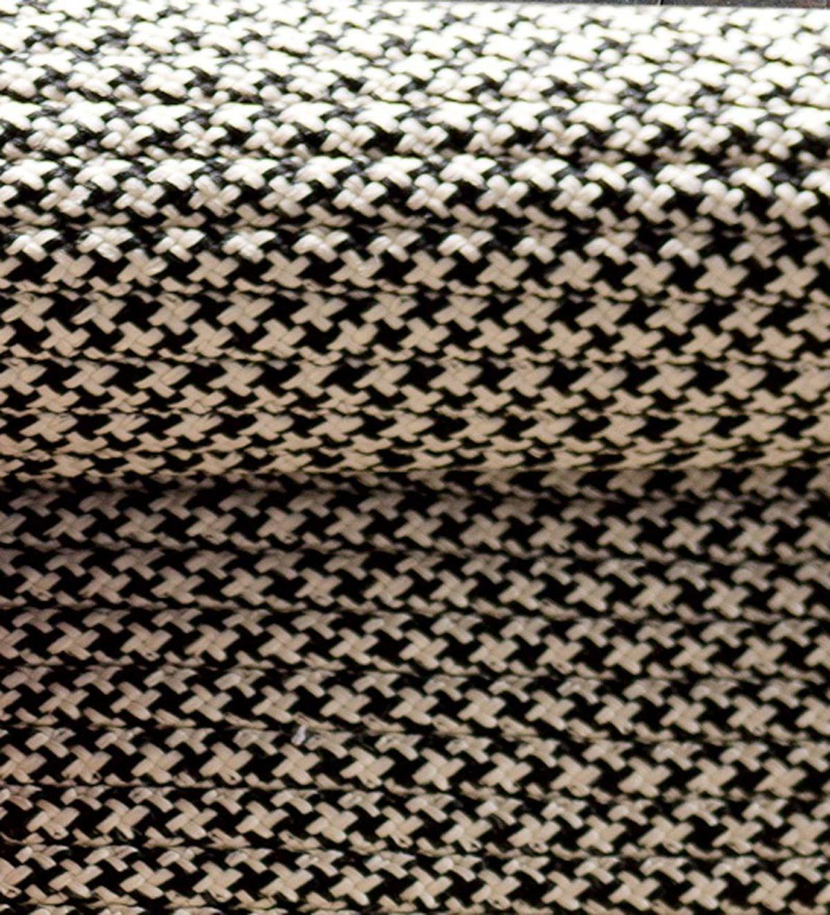 9 X 12 Houndstooth Polypropylene Indoor Outdoor Rug