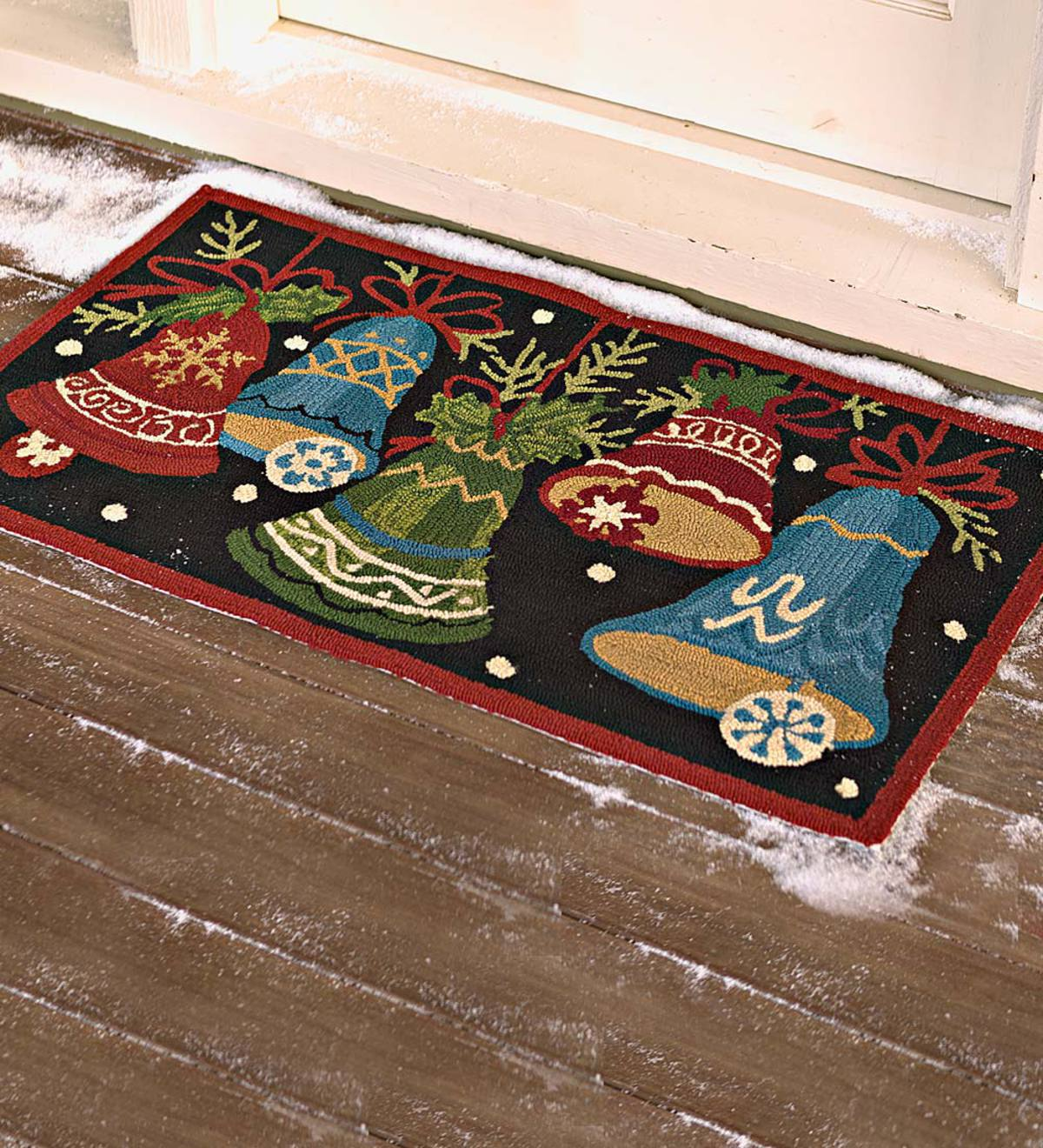 Holiday Bells Indoor Outdoor Accent Rug Plowhearth