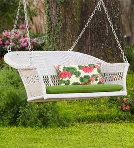 Easy Care Resin Wicker Swing