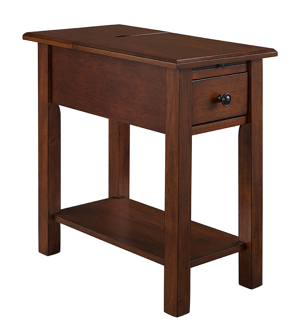 Benton Side Table with Charging Station swatch image