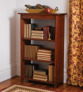 Tall Pine Bookcase with Three Shelves