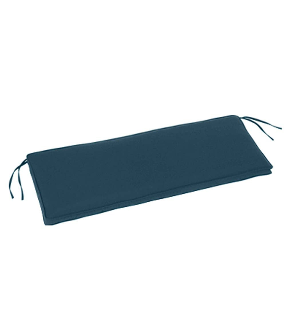"Deluxe Sunbrella Swing/Bench Cushion with ties 40"" x 20"" x 3""H"