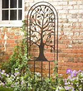 Metal Garden Trellis with Tree of Life Design