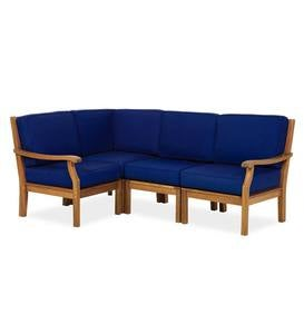 Claremont 4-Piece Sectional with Cushions - Midnight Navy