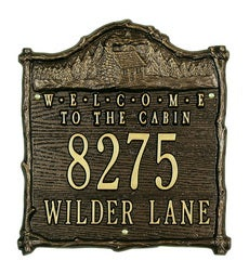 "American-Made""Welcome To The Cabin""Address Plaque In Cast Aluminum swatch image"