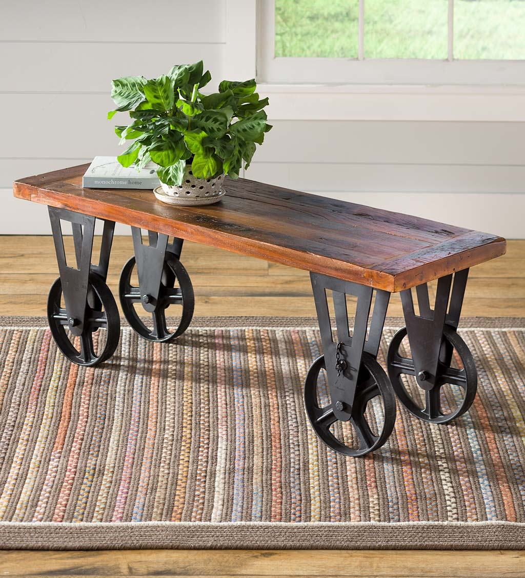 Picture of: Allegheny Reclaimed Wood Round Nesting Tables Set Of 2 Plowhearth