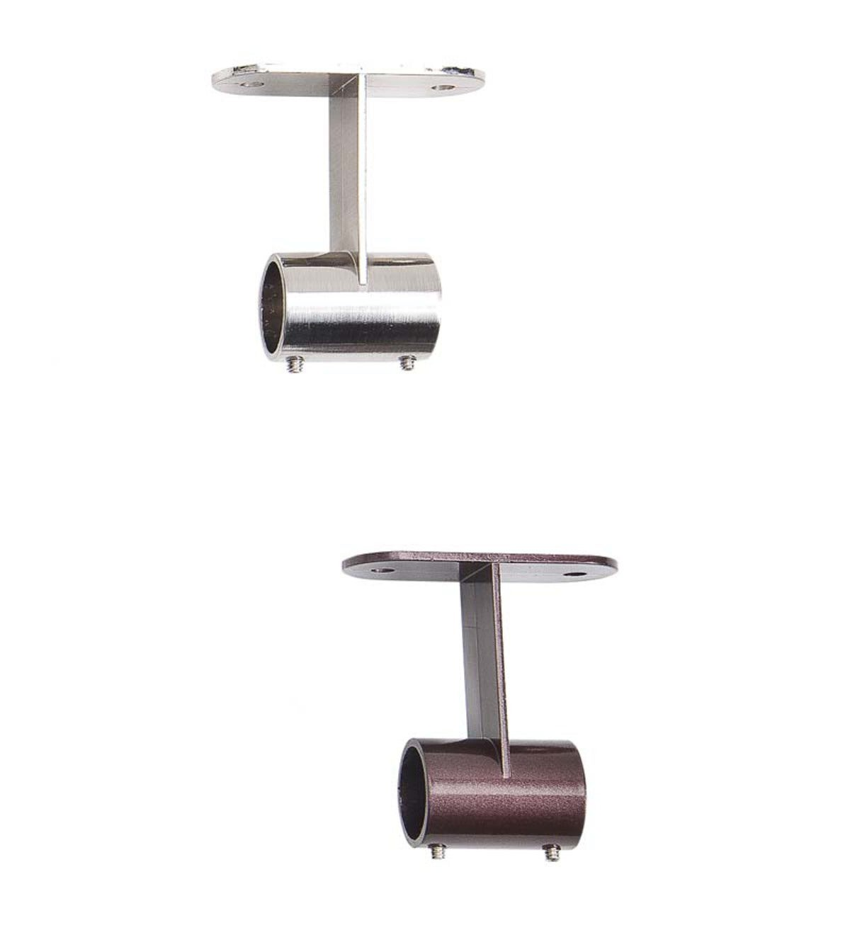 Stainless Steel Indoor Or Outdoor Tension Curtain Rod Ceiling Mount Joiner