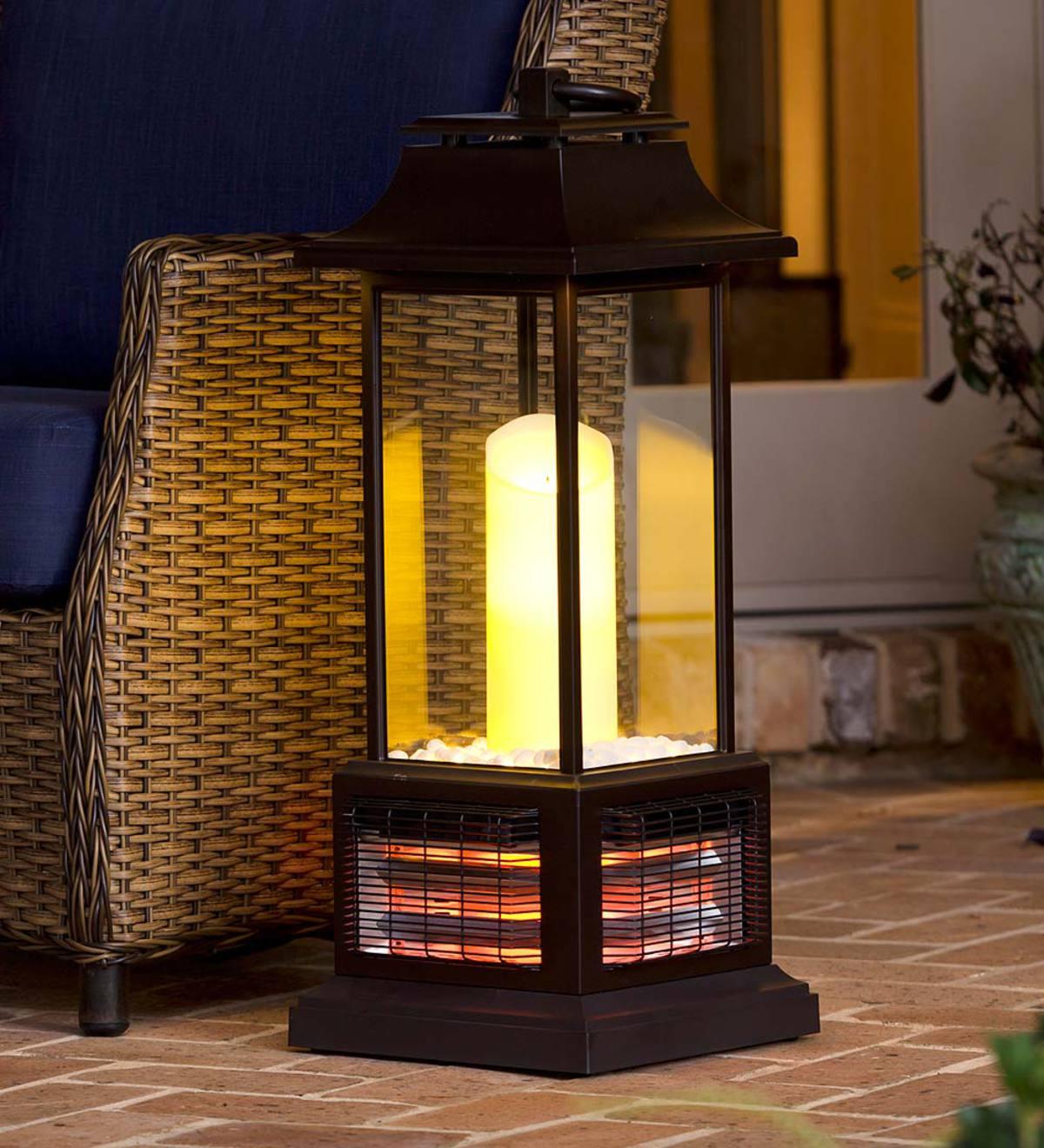 Outdoor Infrared Lantern Heater Bronze Plowhearth