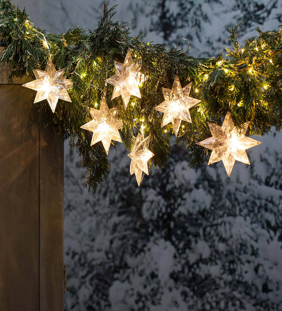 Snowflake LED String Lights, Battery Operated