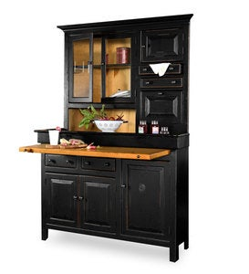 Painted Finish Corner Conestoga Cupboard - Avocado