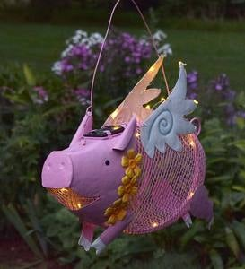 Flying Pig Solar Bird Feeder