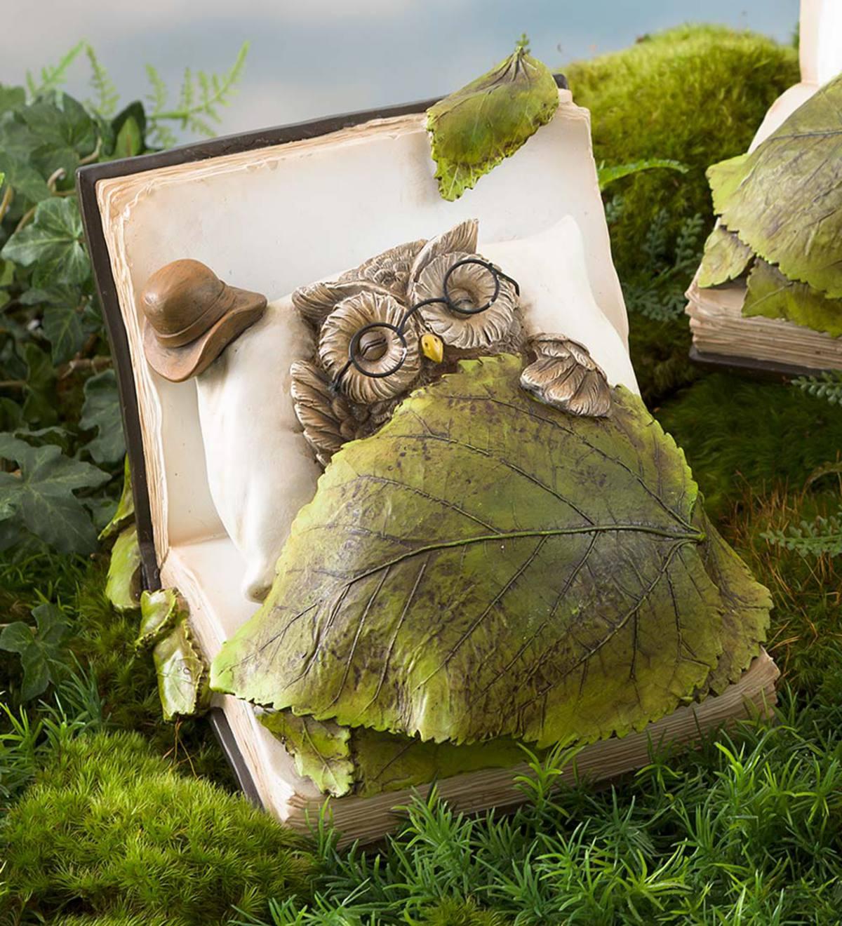 Book Dreamer Sleeping Animal Garden Statue Frog Plowhearth