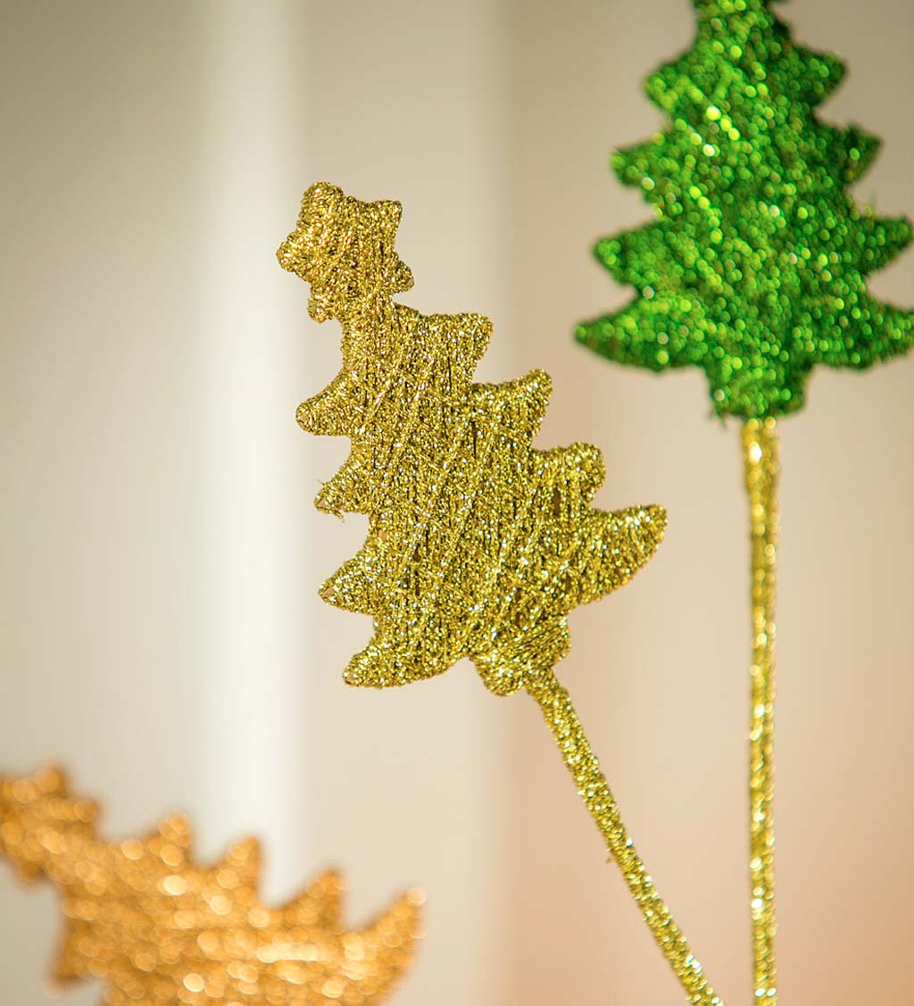 Metallic Holiday Tree Tabletop Decor