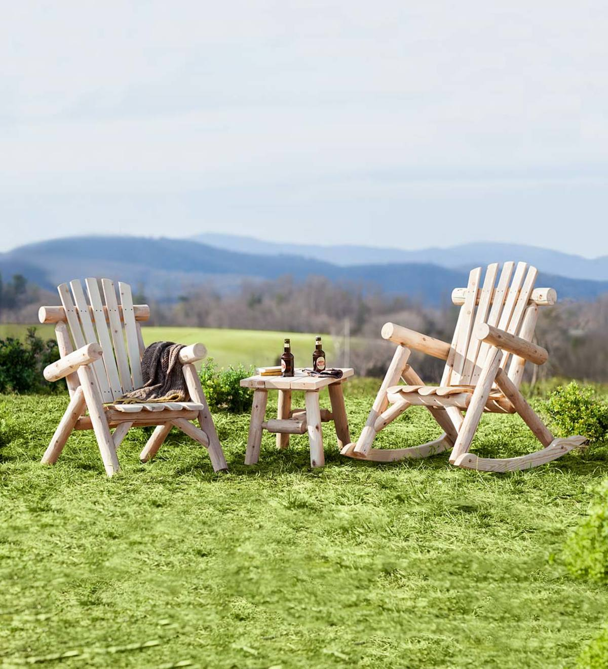 USA-Made Northern White Cedar Log Outdoor Furniture