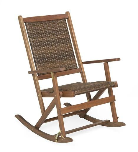 Claytor Folding Eucalyptus Outdoor Rocker