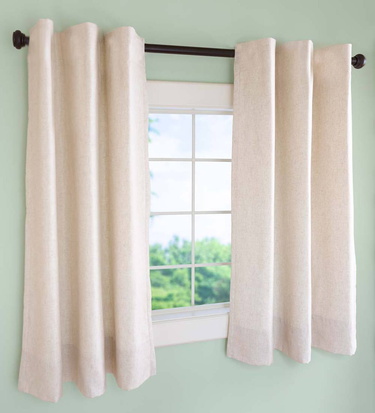Insulated Short Curtain Panels, Rod Pocket