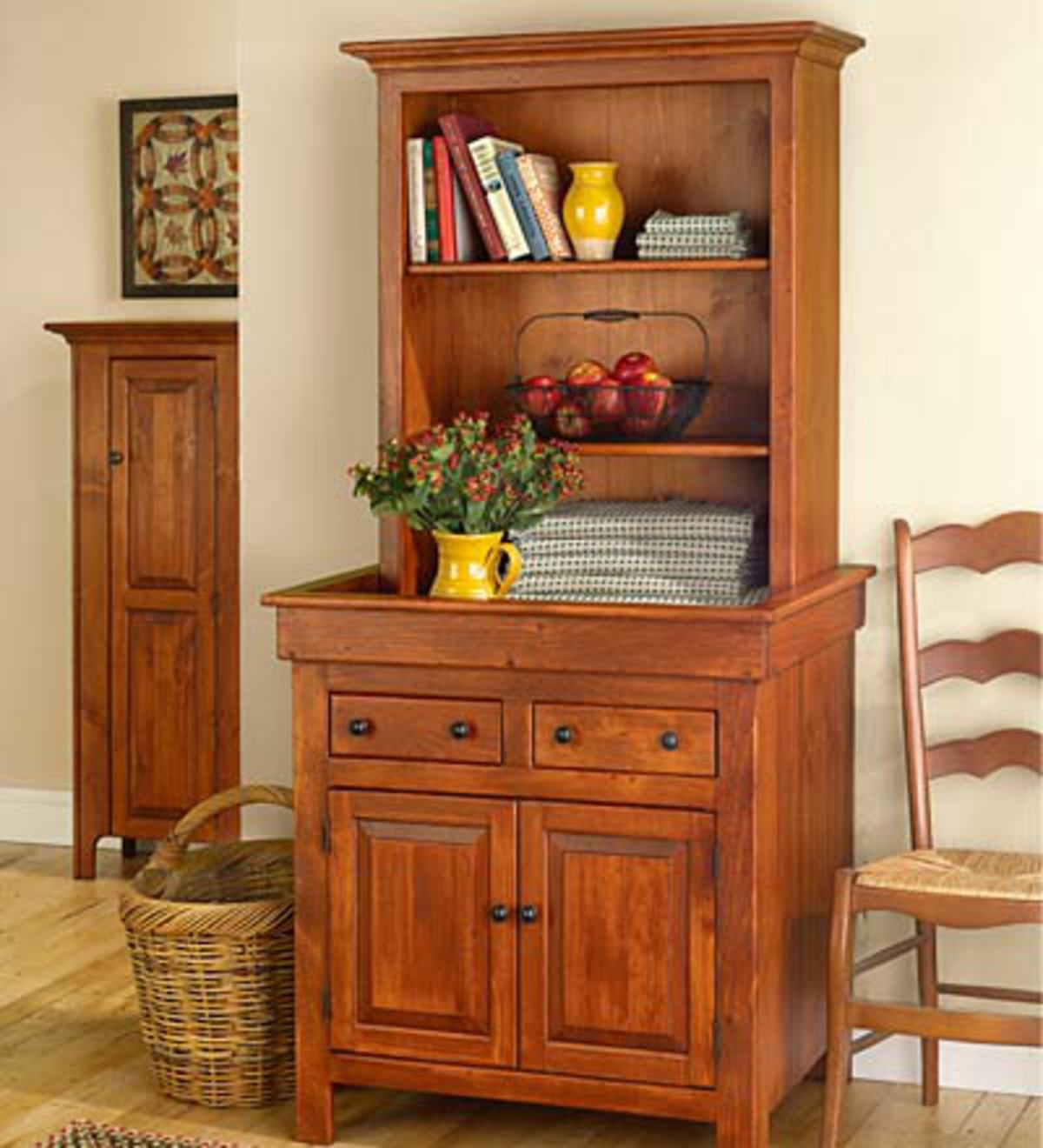 Medium Conestoga Cupboard, Painted Finish