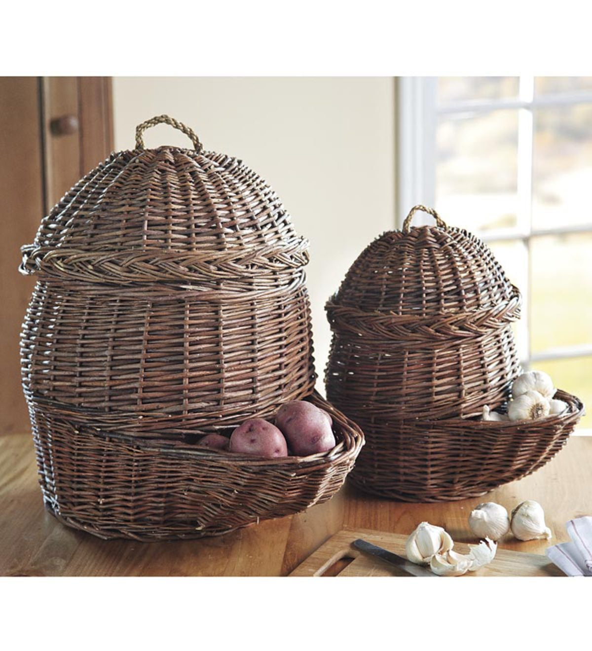 Root Vegetable Baskets Set Of Two