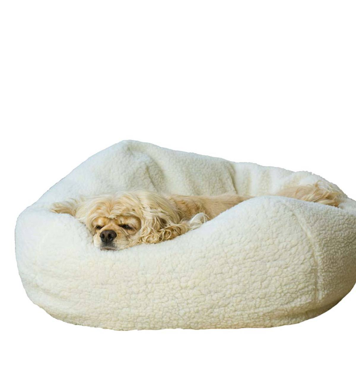 Sherpa Puff Ball Pet Bed