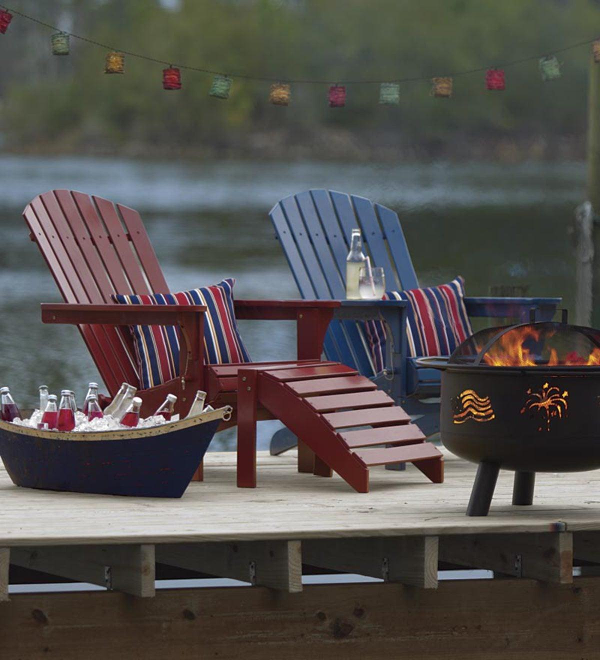 All Weather Painted Hardwood Adirondack Folding Chair