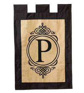 Burlap Monogrammed Outdoor Flags