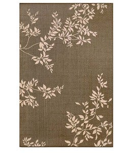 "Leafy Vines Indoor/Outdoor Polypropylene Rug, 39""x 59"" - Terra Cotta"