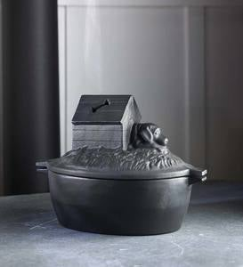 Cast Iron Dog House Wood Stove Steamer