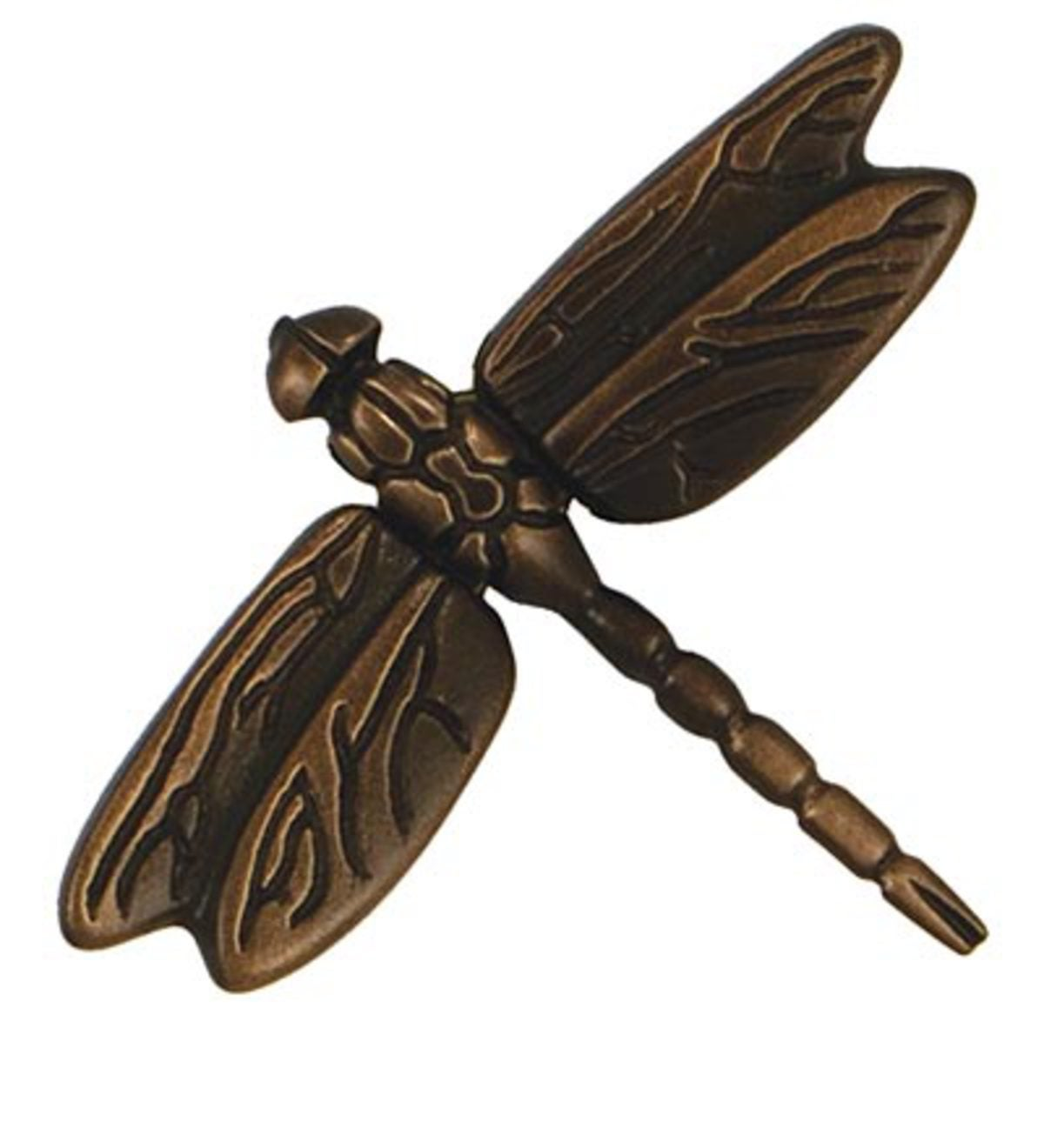 Sand-Cast Dragonfly Doorbell Ringer By Michael Healy - Brass/Bronze