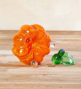 Handmade Glass Pumpkin Fruit Fly Trap