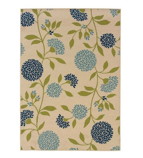 "Floral Surry Rug, 6'7""x 9'6"""
