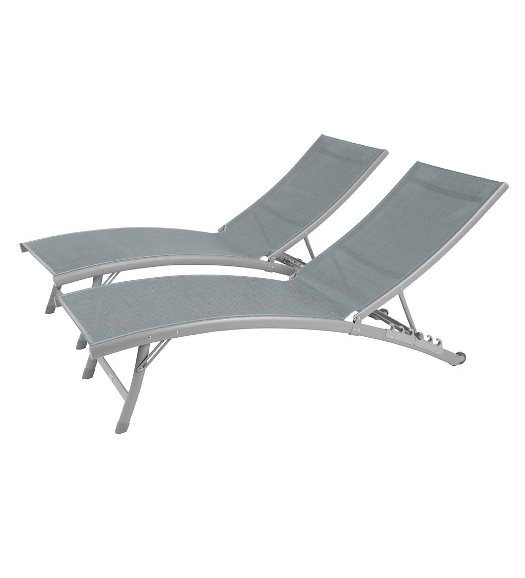 Clearwater Aluminum Lounge Chair Set swatch image
