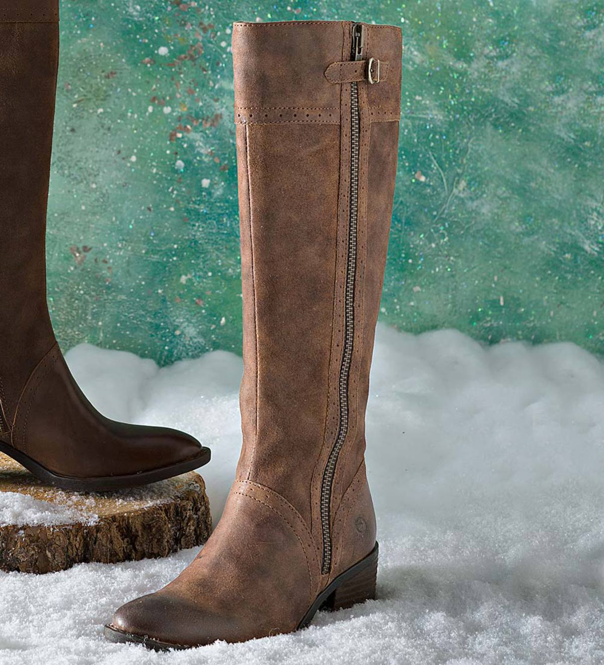 5dbe8a1f0 Born Poly Leather Tall Boots | PlowHearth
