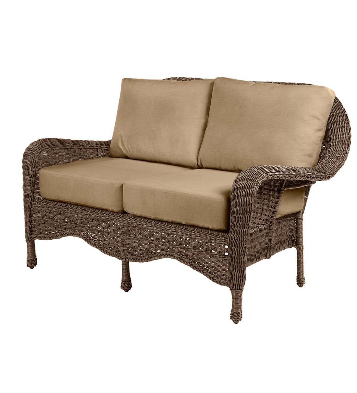 Prospect Hill Outdoor Wicker Deep Seating Love Seat with Cushions