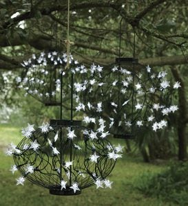 Green Solar Star Lanterns
