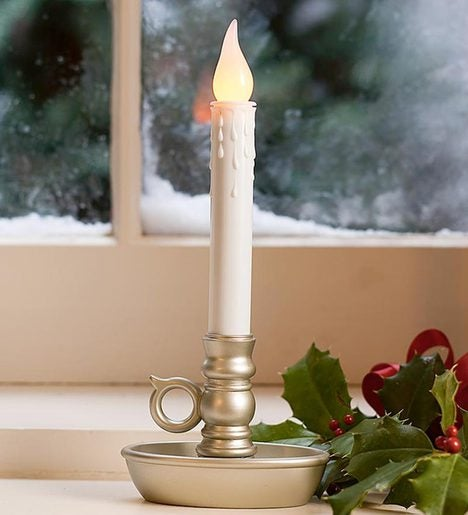 Battery-Operated Single Window LED Window Candle