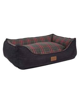 Grey Stewart Plaid Pet Kuddler Pet Bed, Medium