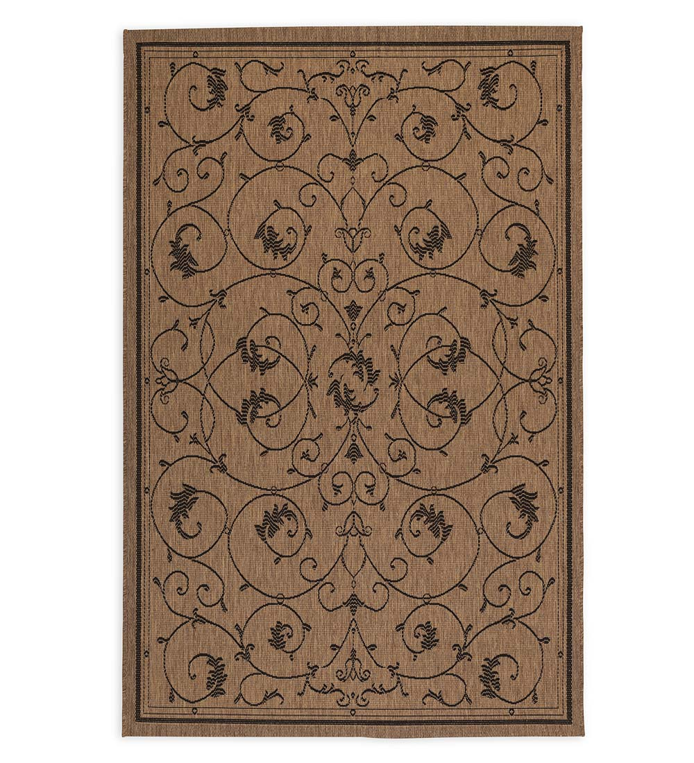 "Veranda Scroll Indoor/Outdoor Rug, 7'6""x 10'9"""