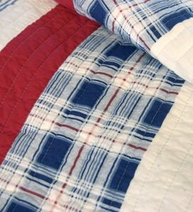 King Americana Stripe Quilt Set