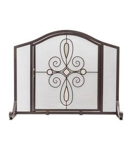 Large Florence Fireplace Screen with Door