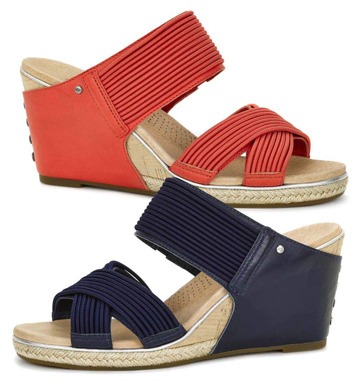 ab95abef423 UGG Women's Hilarie Slip-On Wedge Sandals | PlowHearth