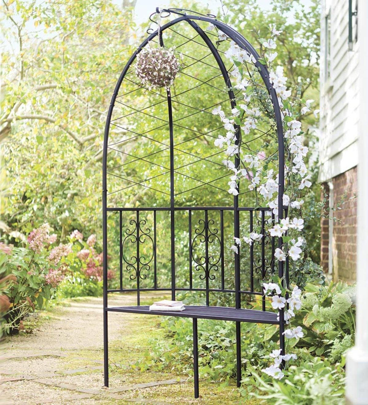 Beau Montebello Collection Garden Arbor With Bench