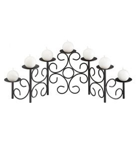 Iron Tracery Fireplace Candelabra