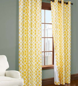 "95""L Thermalogic™ Trellis Grommet-Top Insulated Curtains - Khaki"