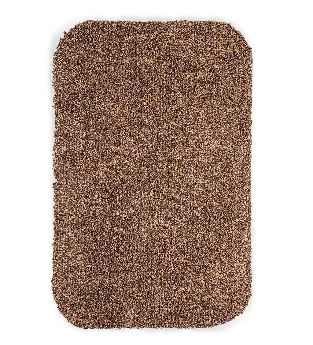 "Medium Microfiber Mud Rug With Non-Skid Backing, 19"" x 29"""