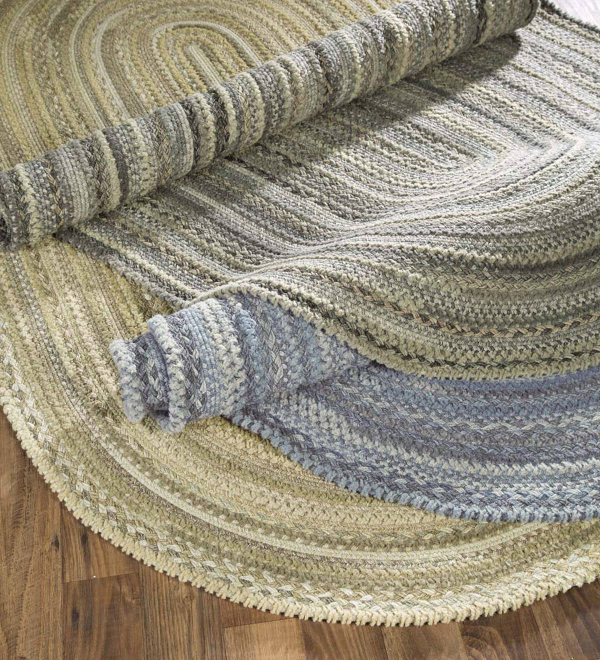 Oval Riverview Wool Blend Braided Rug