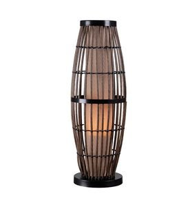 All-Weather Rattan And Fabric Biscayne Outdoor Lamps