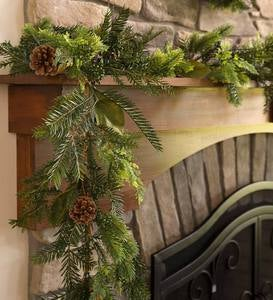 Holiday Mixed Faux Greenery Garland