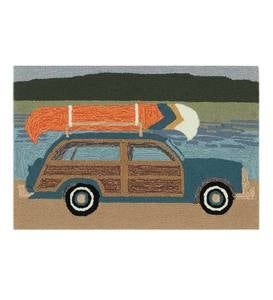 "Indoor/Outdoor Synthetic Blend Camping Trip Rug, 24"" x 36"""